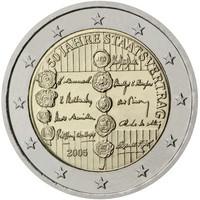 Itävalta 2 € 2005 Valtiosopimus 50 vuotta