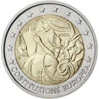 Italia 2 € 2005 Euroopan perustuslakisopimus