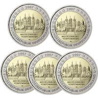 Saksa 2 € 2007 Mecklenburg / Schwerin Schloss A-J