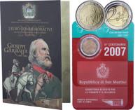 San Marino 2 € 2007 Giuseppe Garibaldi
