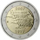 Suomi 2 € 2007 Itsenäisyys 90 vuotta