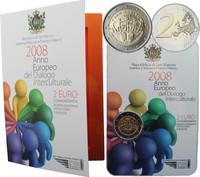 San Marino 2 € 2008 Kulttuurienvälinen vuoropuhelu