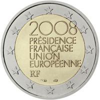 Ranska 2 € 2008 EU- puheenjohtajuus