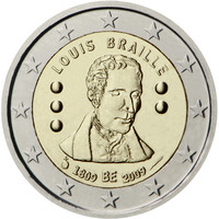 Belgia 2 € 2009 Louis Braille