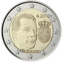 Luxemburg 2 € 2010 Suurherttuakunnan vaakuna