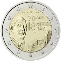 Ranska 2 € 2010 70 vuotta kesäkuun 18. päivän puheesta