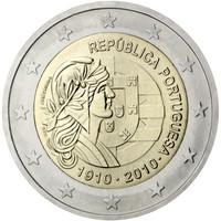 Portugali 2 € 2010 Tasavalta 100 vuotta