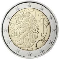 Suomi 2 € 2010 suomalainen raha 150 vuotta