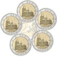 Saksa 2 € 2011 Nordrhein-Westfalen / Kölnin tuomiokirkko A-J