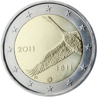 Suomi 2 € 2011 Suomen pankki 200 vuotta