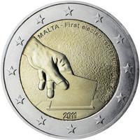Malta 2 € 2011 vuoden 1849 vaalit