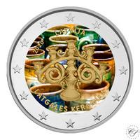 Latvia 2 € 2020 Latgalen keramiikka, väritetty (#1)