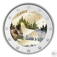Viro 2 € 2021 Kansalliseläin - Susi, väritetty (#2)