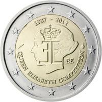 Belgia 2 € 2012 Kuningatar Elisabeth‑musiikkikilpailu 75 vuotta
