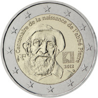 Ranska 2 € 2012 Abbé Pierre