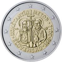 Slovakia 2 € 2013 Kontantinos & Metodios
