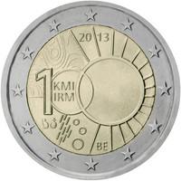 Belgia 2 € 2013 Meteorologian laitos 100 vuotta