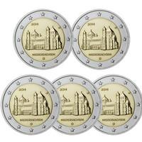 Saksa 2 € 2014 Niedersachsen / Mikaelinkirkko A-J
