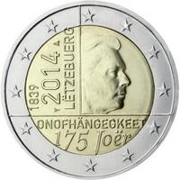 Luxemburg 2 € 2014 Itsenäisyys 175 vuotta