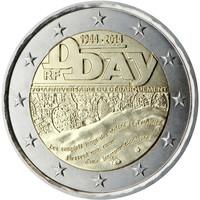Ranska 2 € 2014 Normandian maihinnousu 70 vuotta