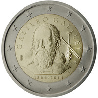 Italia 2 € 2014 Galileo Galilei