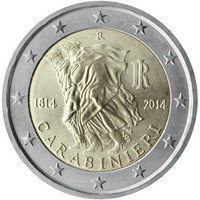 Italia 2 € 2014 Karabinieerit 200 vuotta