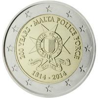 Malta 2 € 2014 Poliisivoimat 200 vuotta