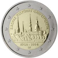 Latvia 2 € 2014 Riika - Euroopan kulttuuripääkaupunki