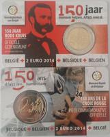 Belgia 2 € 2014 Punainen Risti 150 vuotta coincard