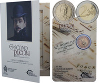 San Marino 2 € 2014 Giacomo Puccini