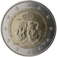 Luxemburg 2 € 2014 Jean 50 vuotta