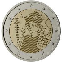 Slovenia 2 € 2014 Barbara Celjska