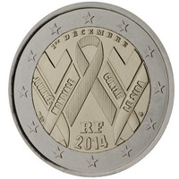Ranska 2 € 2014 Maailman AIDS- päivä