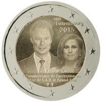 Luxemburg 2 € 2015 Suurherttua Henri valtaistuimella 15 vuotta