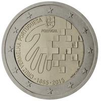 Portugali 2 € 2015 Punainen Risti 150 vuotta