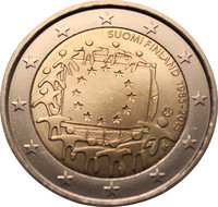 Suomi 2 € 2015 EU:n lippu 30 vuotta
