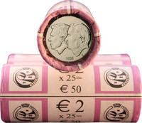 Belgia 2 € 2005 Belgian & Luxemburgin talousliitto rulla