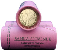 Slovenia 2 € 2008 Primoz Trubar rulla