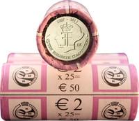 Belgia 2 € 2012 Kuningatar Elisabeth ‑musiikkikilpailu 75 v. rulla