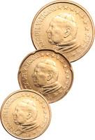 Vatikaani 10, 20 & 50 senttiä 2004 pillereissä BU