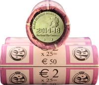 Belgia 2 € 2014 Ensimmäinen maailmansota 100 v. rulla