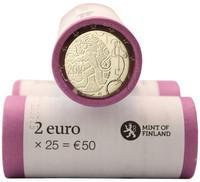 Suomi 2 € 2010 Suomalainen raha 150 vuotta rulla