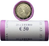 Latvia 2 € 2015 EU- puheenjohtajuus rulla