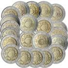 Euro käteisvaluuttana 10 vuotta 2 € 2012 kaikki 21 juhlarahaa