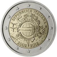 Italia 2 € 2012 Euro 10 vuotta