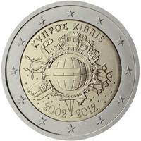 Kypros 2 € 2012 Euro 10 vuotta