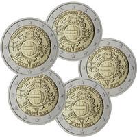 Saksa 2 € 2012 Euro 10 vuotta A-J