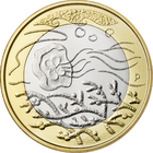 Suomi 5 € 2014 Pohjolan luonto, Vedet