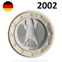 Saksa 1 € 2002 Kotka UNC
