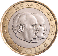 Monaco 1 € 2001 Albert II & Rainier III